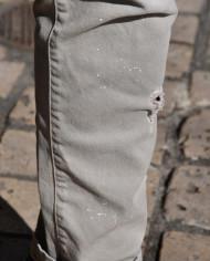Paolo Pecora jeans gris clair scratché détail