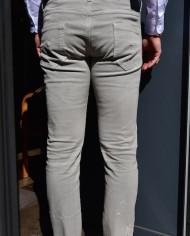 Paolo Pecora jeans gris clair scratché dos