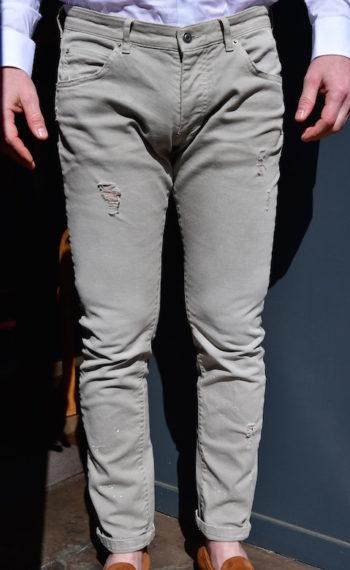 Jeans Paolo Pecora jeans gris clair délavé mode Revolt Orléans