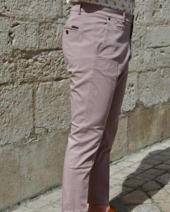 Pantalon gabardine de coton vieux rose Messagerie Revolt Orléans