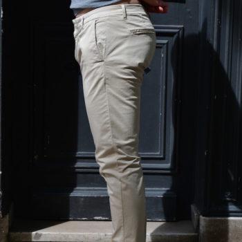 paolo pecora pantalon toile coton beige revolt orleans