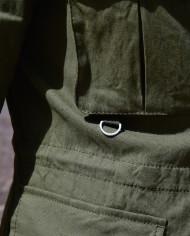 Paolo Pecora veste lin kaki détail poche