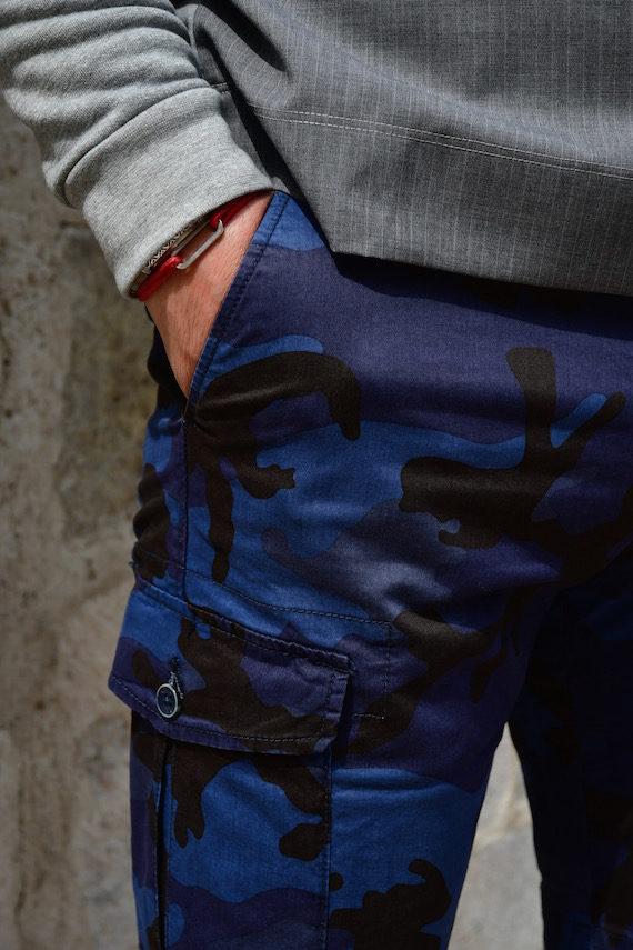 Pantalon bermuda cargo camo navy at.p.co homme revolt orleans