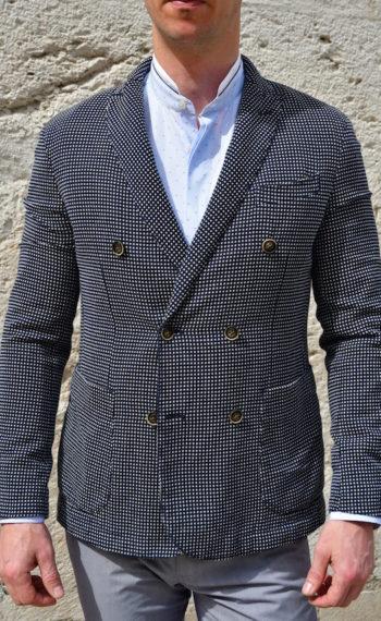 atpco veste croisée Svevo coton marine homme Revolt Orléans