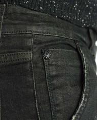 Messagerie jeans noir délavé détail logo
