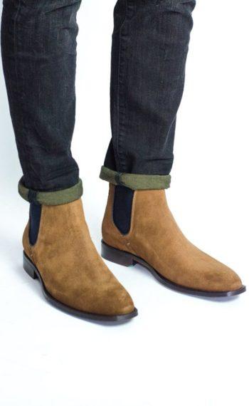Paradigma chaussure boots veau velours ginger revolt orléans