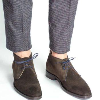 Paradigma chaussure chukka boots veau velours moka marron revolt orléans