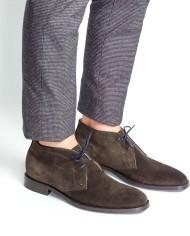 Paradigma chukka boots veau velours moka 3:4