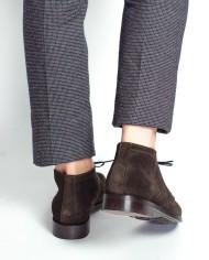 Paradigma chukka boots veau velours moka dos