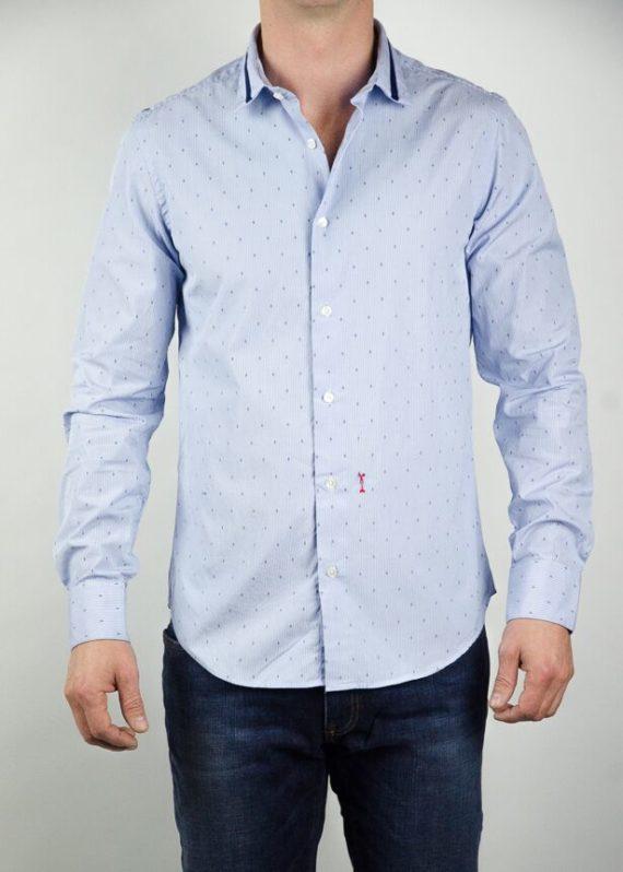 marchand drapier chemise beaugrenelle rayée ciel revolt Orléans