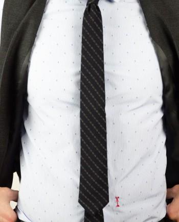 Messagerie cravate navy rayée revolt orleans