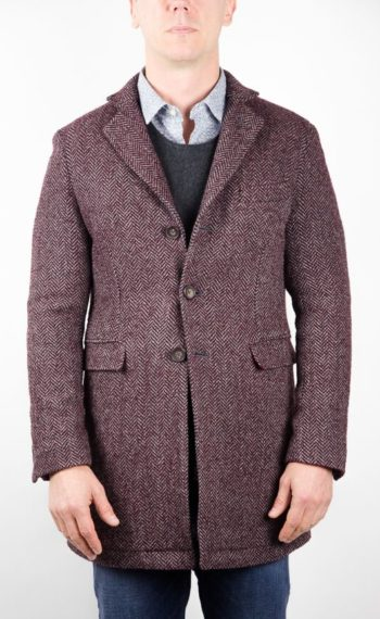 Manteau fabian chevrons gris bordeaux homme at.p.co revolt orleans