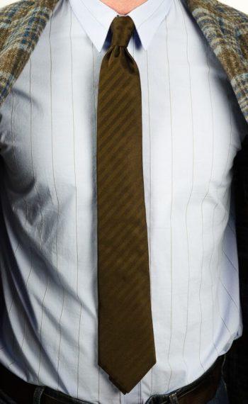 Altea cravate marron chevron revolt orleans