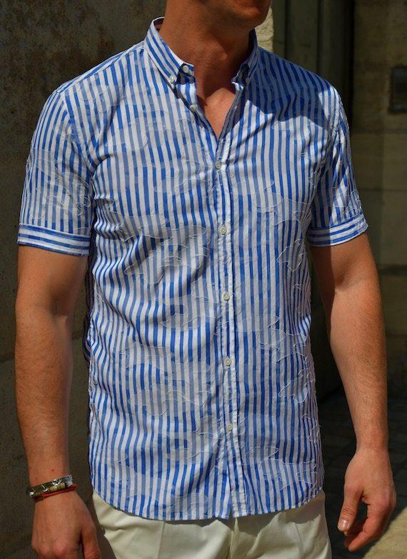 aglini chemise à manches courtes rayée revolt Orléans