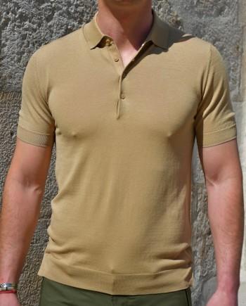 Paolo pecora polo manches courtes soie coton beige Revolt Orléans