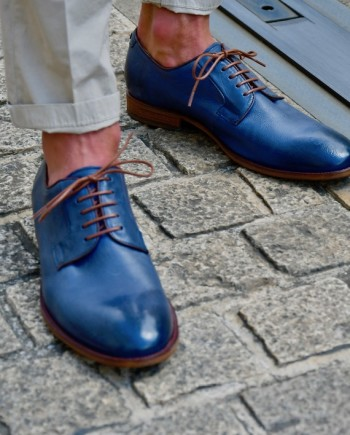 Paradigma chaussure derby délavé navy revolt orléans