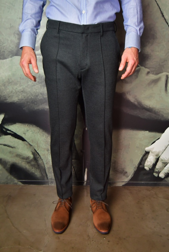 paolo pecora pantalon anthracite Revolt Orléans