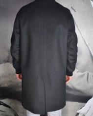 Paolo Pecora mant laine cach noir dos