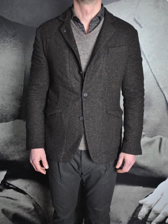 Messagerie Club Jacket tweed marron revolt orleans