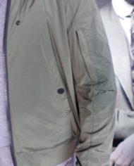 Paolo Pecora bombers kaki détail