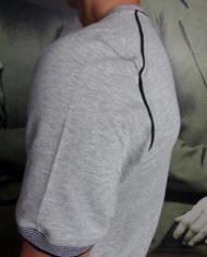Paolo Pecora t-shirt sweat gris détail