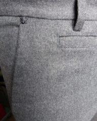 Messagerie pant flanelle grise détail