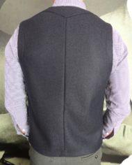 Paolo Pecora gilet tailleur laine navy dos