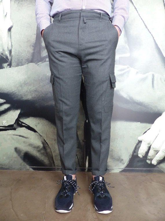 Paolo Pecora pantalon cargo gris revolt orleans