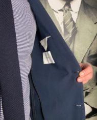 Paolo Pecora vest en coton navy détail