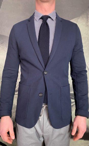 Paolo Pecora veste en coton navy Revolt orleans