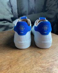 Giorgio sneakers blanche bleu klein dos