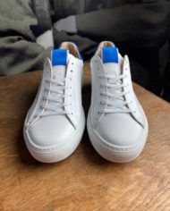 Giorgio sneakers blanche bleu klein face
