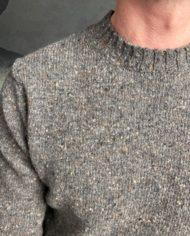 Aspesi pull shetland gris détail