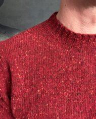 Aspesi pull shetland rouge détail