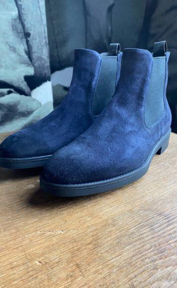 Giorgio boots veau velours navy revolt orleans