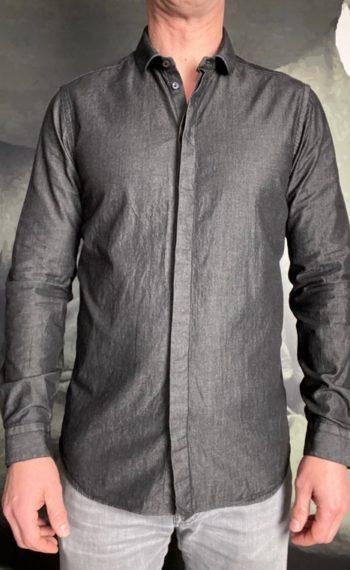 A.Gherardi chemise denim noir revolt orleans