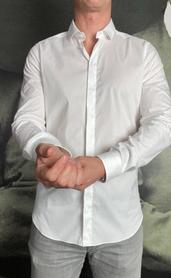 A.Gherardi chemise blanche col claudine revolt orleans