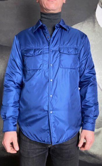 Aspesi surchemise nylon bleue électrique revolt orleans
