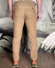 Berwich retro long velours beige dos