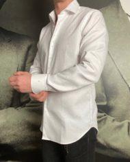 Grigio chemise blanche tissée revolt orleans