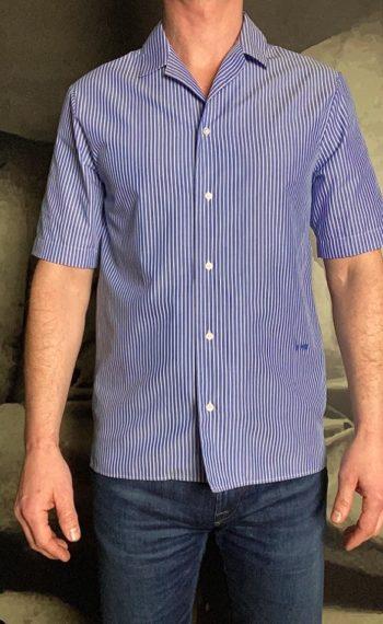 Paolo Pecora chemisette rayée ciel revolt orleans